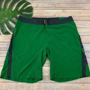 The North Face green hybrid swim and casual shorts